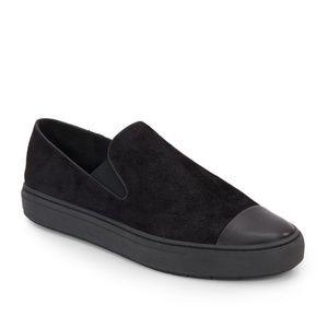 Vince Camuto Black Suede Slip-On Sneakers
